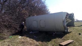 В Воронежской области столкнулись грузовик и автобус: 1 человек погиб и 4 пострадали