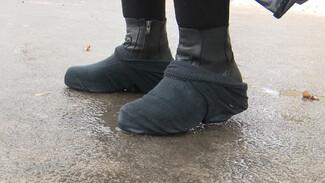 Носки поверх ботинок. Воронежцы придумали, как справиться с катком на тротуарах