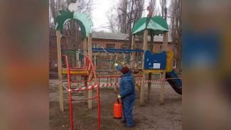 Детские площадки в Воронеже закрыли из-за коронавируса
