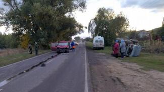 Под Воронежем лихач на иномарке протаранил трактор