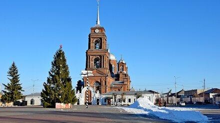 В воронежский райцентр для новогоднего настроения привезли КамАЗы снега
