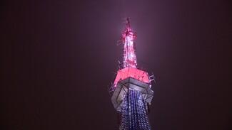 На телебашне в центре Воронежа в День космонавтики зажгутся «галактики»