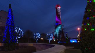 Воронежцам рассказали о времени работы подсветки на 46-метровом красном маяке