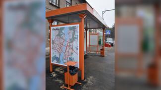 В Воронеже появились ярко-оранжевые остановки
