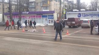 На восьмиполосной дороге в Воронеже грузовик насмерть сбил мужчину