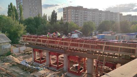 Воронежцы показали строящийся в рамках реконструкции Остужевской развязки мост