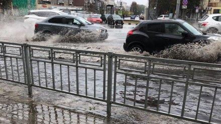 Ливень в подъезде и затопленные переходы. Как Воронеж пережил сильный дождь