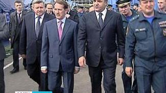 Мощь воронежских спасателей показали министру МЧС Владимиру Пучкову