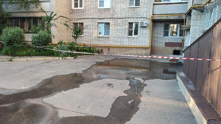 Воронежский двор на 5 дней ушёл под воду из-за коммунальной аварии