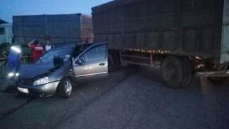 Водитель легковушки разбился в ДТП с грузовиком на трассе в Воронежской области