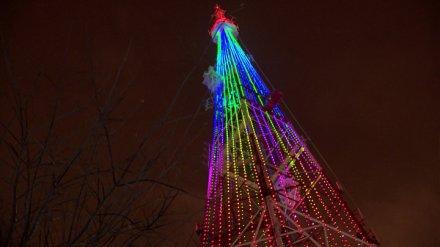 Воронежцы увидят особую праздничную иллюминацию на телебашне