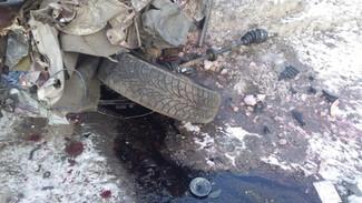 В Воронежской области при лобовом столкновении иномарок погиб молодой пассажир