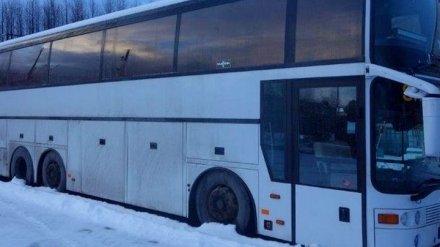 Под Воронежем полицейские «отогрели» сломавшийся на трассе автобус с пассажирами