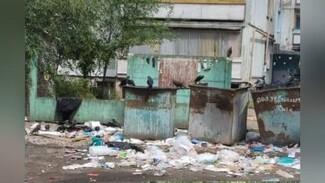 В Воронеже двор многоэтажки у детсада «утонул» в мусоре