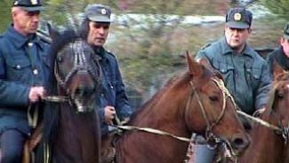 Воспитанники интерната посетили конную роту полка милиции