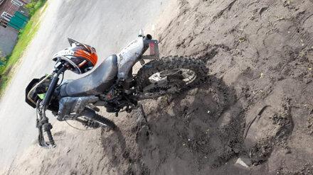 В Воронежской области 14-летний мотоциклист попал в больницу после ДТП с иномаркой
