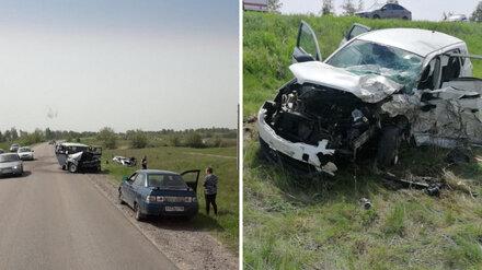 В Воронежской области двое водителей пострадали в лобовом ДТП