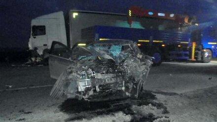 На трассе М-4 «Дон» в Воронежской области легковушка влетела под фуру: погибли двое