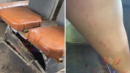 Под Воронежем у ехавшего с пассажирами рейсового автобуса взорвалось колесо