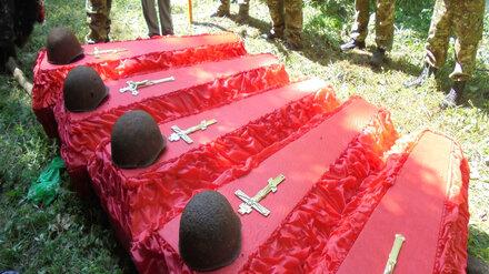 Поисковый отряд Нововоронежской АЭС перезахоронил останки 22 советских солдат