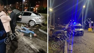 Opel и Citroën столкнулись на шиловском кольце в Воронеже: есть пострадавшие