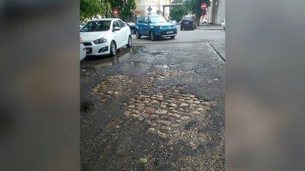 Старинную брусчатку вновь откопали в центре Воронежа