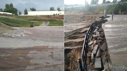 Власти прокомментировали разрушение ливнем парка за 85 млн в воронежских Лисках