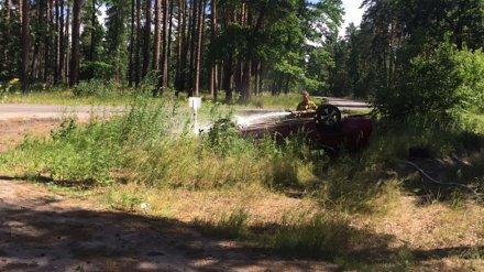 На окраине Воронежа погиб водитель перевернувшегося авто