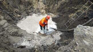 В Воронеже устранили коммунальную аварию, из-за которой затопило парк и дворы