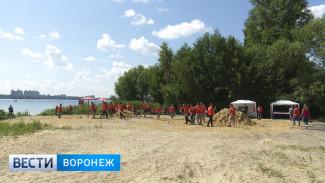 В Воронеже завершается благоустройство пляжа у набережной Максима Горького