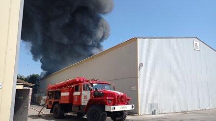Мощный пожар произошёл на лакокрасочном заводе в Воронежской области