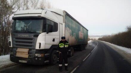 Сотрудники ДПС помогли водителю грузовика, застрявшего в мороз на воронежской дороге
