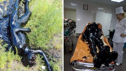 В Воронежской области мужчина упал в мазутную реку и чудом остался жив