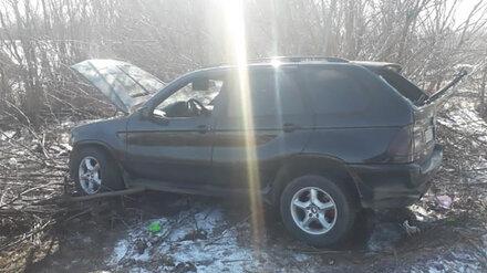 В Воронежской области при опрокидывании BMW пострадал водитель