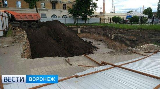 Сквер на месте стройки у вокзала «Воронеж-1» благоустроят до конца 2017 года