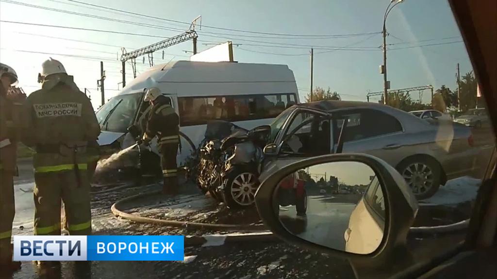 В сети появилось видео последствий аварии у Центрального парка