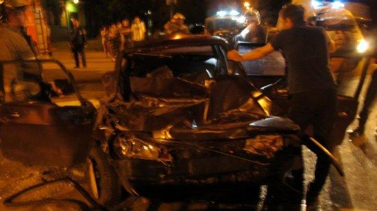 ВВоронеже нетрезвый  шофёр  врезался в фургон : парень идевушка погибли