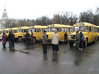 33 школьных автобуса получила Воронежская область