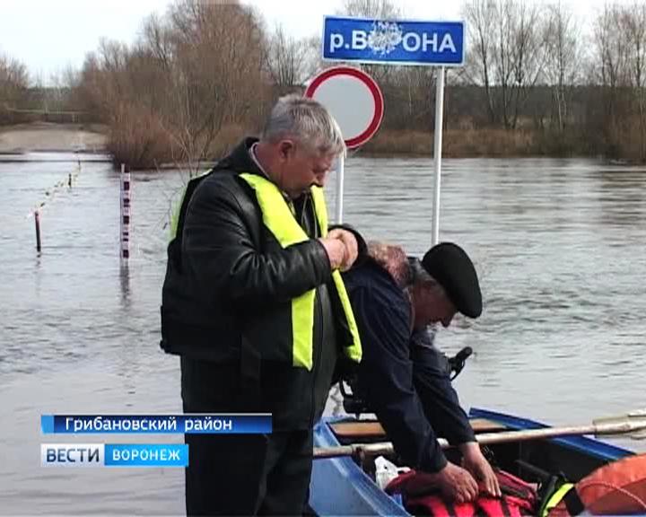 В Воронежской области открылась лодочная переправа через реку Ворона