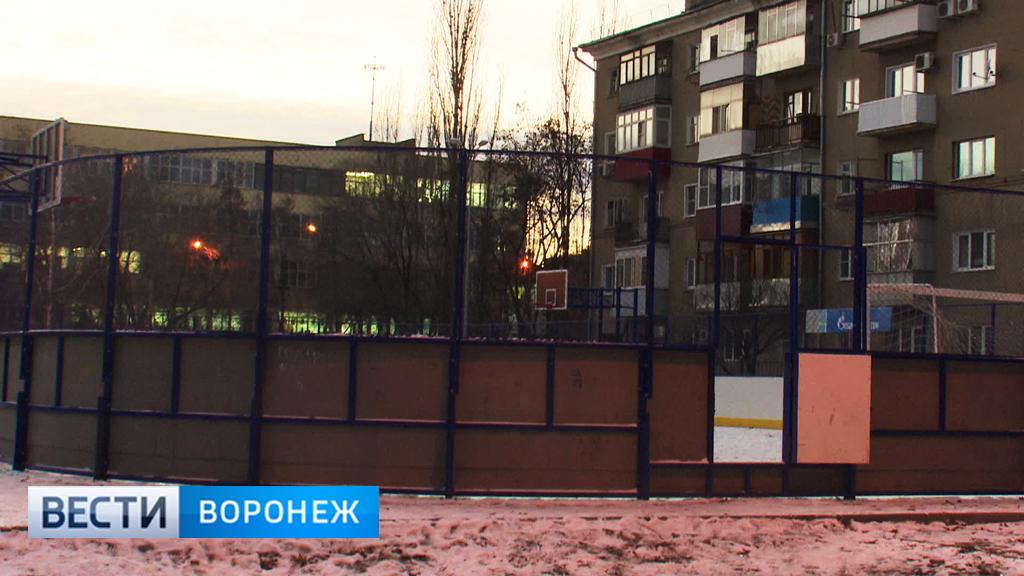 В Воронеже полтора года не могут включить свет на 12 спортплощадках
