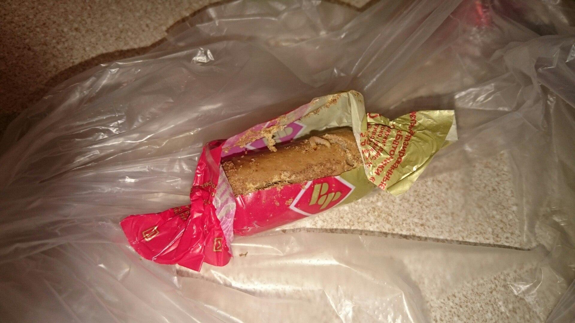 Жительница Воронежа обнаружила в купленных конфетах личинки моли
