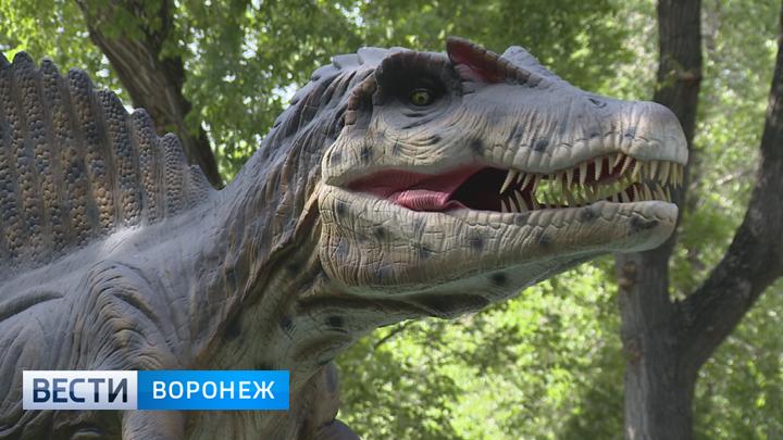В Воронеже теперь можно наткнуться на «оживших» динозавров