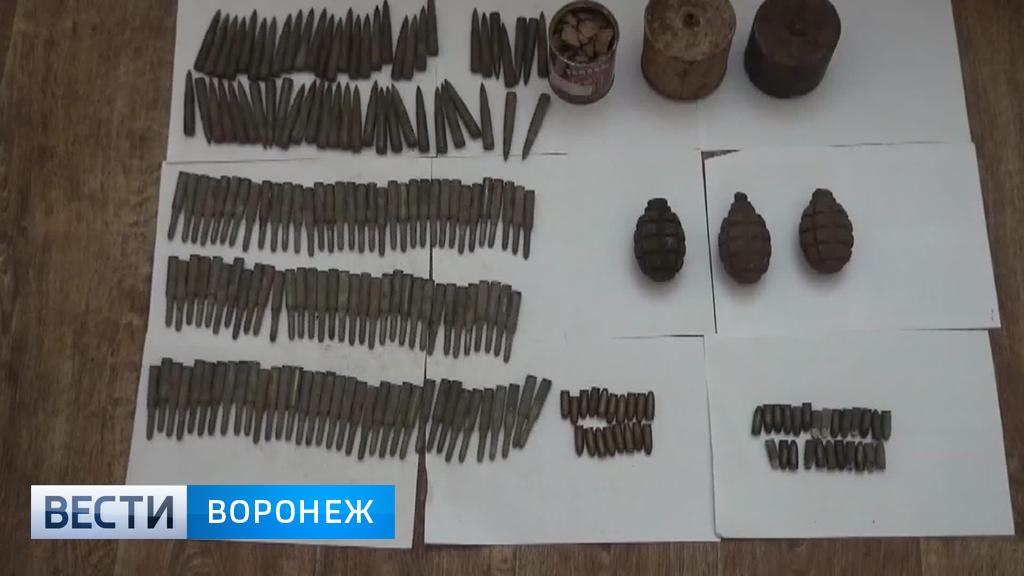 В Воронежской области у «чёрных копателей» нашли два оружейных арсенала