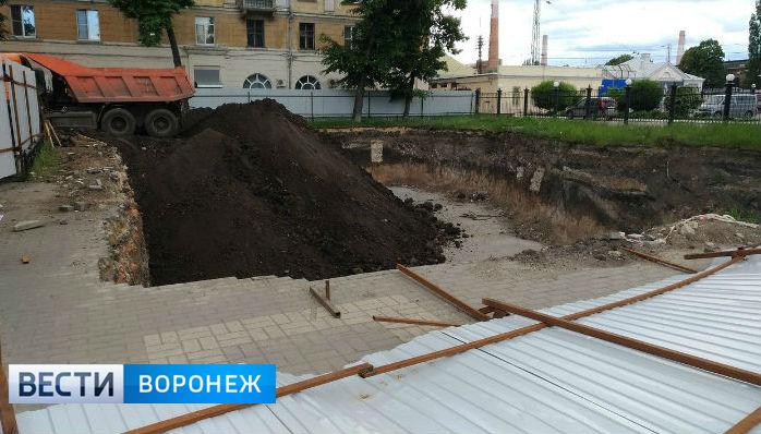 На месте стройки у вокзала «Воронеж-1» появится сквер с клумбой и скамейками