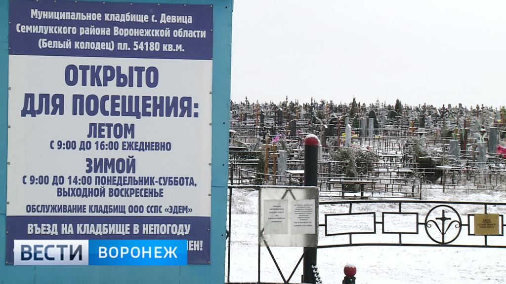 Под Воронежем кладбище подступает к «Белому колодцу»