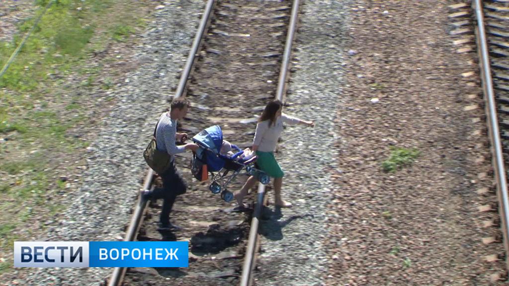 РЖД: Воронежские родители сами ведут детей на рельсы