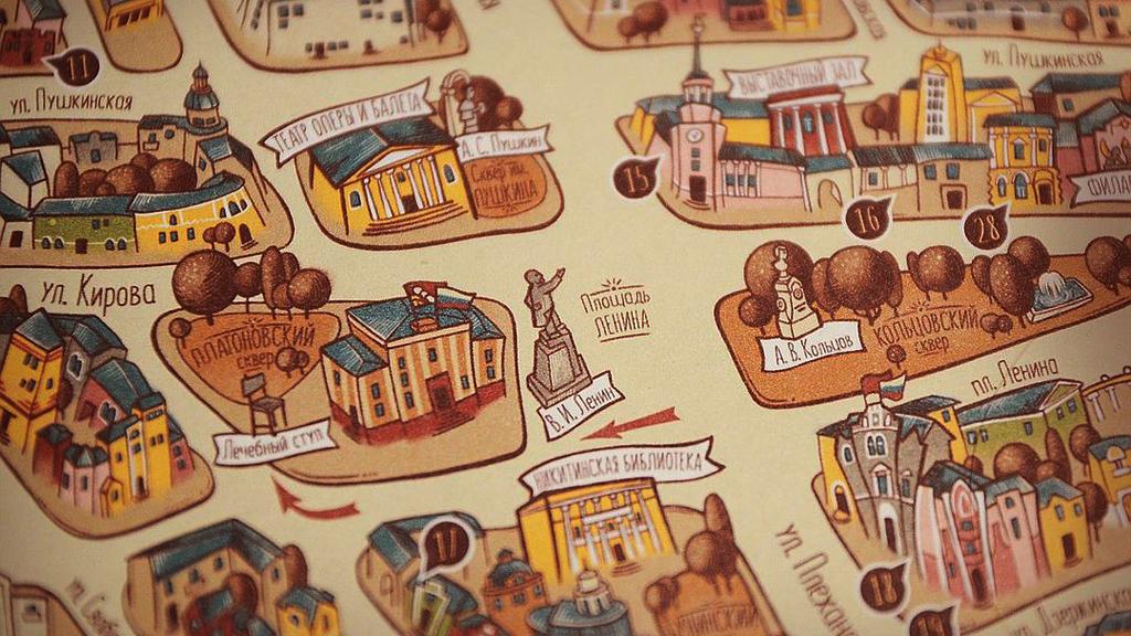 В Воронеже запустили бесплатные пешеходные экскурсии «Город на ладони»