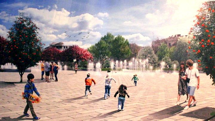 Яблоневый сад и 40-метровый «сухой» фонтан. Что появится на Советской площади в Воронеже