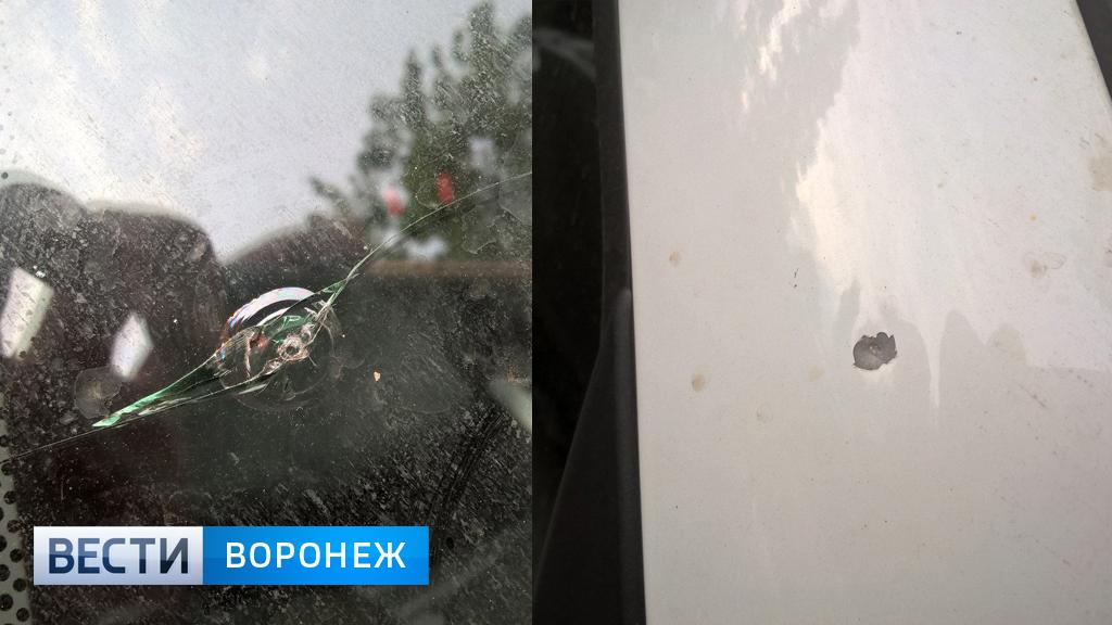 Воронежцу на парковке обстреляли автомобиль из пневматики