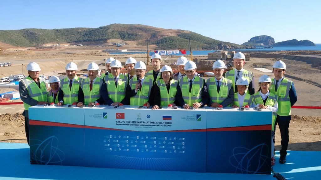 Президенты России и Турции дали старт началу полномасштабного строительства АЭС «Аккую»